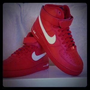 Red High Top Air Force 1